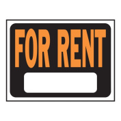 """Hy-Ko Plastic For Rent Sign, 9"""" x 12"""""""