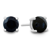 1/2ct Natural Sapphire Stud Earrings in Sterling Silver - September Birthstone!
