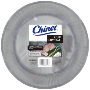 Chinet Cut Crystal Plastic Plates, 25cm , 12 Count