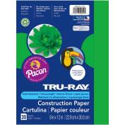Tru-Ray® Festive Green Sulphite Construction Paper, 23cm x 30cm , 30 Sheets
