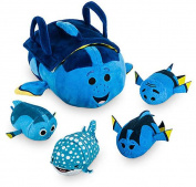 Disney Tsum Tsum Finding Dory Set of 4 Mini Plush & Bag