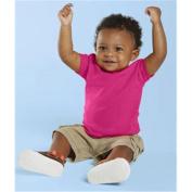 (Price/each)Rabbit Skins 3401 Infant T-Shirt-Fuchsia-12M