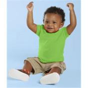 (Price/each)Rabbit Skins 3401 Infant T-Shirt-Apple-6M