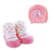 Child of Mine by Carter's Newborn Baby Girl Princess Mitten and Bootie Set, NB