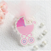 Baby Shower Pink Baby Carriage Gift Tags w/ Twist Ties