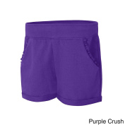 Hanes Girls' French Terry Ruffle Pocket Short