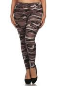 Camo Design Plus Size Leggings