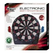 Electronic Soft Tip Dartboard Including Darts
