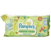 Pampers Baby Wipes Unscented 64s