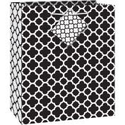 Black Quatrefoil Gift Bag