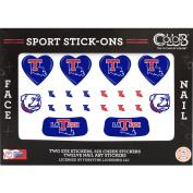 Colour Club Sport Stick-Ons, Louisiana Tech, 20 pc