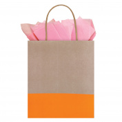 The Gift Wrap Company Sunkiss Dipped Kraft Tote, 1 Ct