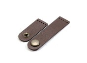 byhands 8cm 100% Genuine Leather Brown Snap Closure for Purse Making Supply