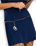 Silver Handcuff Belt Rubies 7859 Silver Standard, Standard