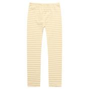 Richie House Little Girls Beige White Thick Stripe Stretchy Standard Leggings 3-6