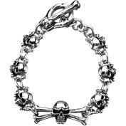Steel Art Stainless Steel Skull Bracelet, 19cm