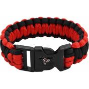 NFL Men's Falcons Nylon Survivor Bracelet