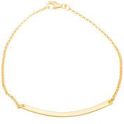 Angelique Silver 18kt Gold over Sterling Silver Curved Bar Bracelet, 18cm