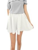 Juniors Mini Chiffon Slant Pockets Sexy Chic Shorts