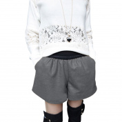 Juniors Elastic Waist Side Pockets Fashional Mini Bootcut Shorts