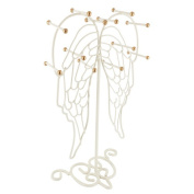 Ikee Design Metal Angel Wing Shape Jewellery Display and Jewellery Stand Hanger Organiser