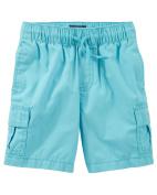 OshKosh B'gosh Baby Boys' Pull-On Cargo Shorts, Turquiose, 9 Months