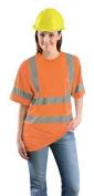 OCCUNOMIX LUX-SSETP3B-O4X T-Shirt, Mens, 4XL, Orange