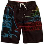 Boys Darth Vadar Star Wars Swim Trunks Swimsuit