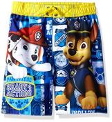 Nickelodeon Big Boys' Paw Patrol Swim Trunk, Yellow, 7