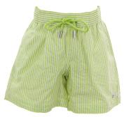 NAILA Boy's Pinstripe Swim Trunks Sz 6 Years Green/White