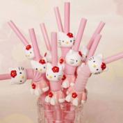 5PCS Hello Kitty Drinking Straws