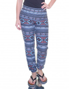 Hippie Rose Blue/Green Aztec Leggings Size XS NWT - Movaz
