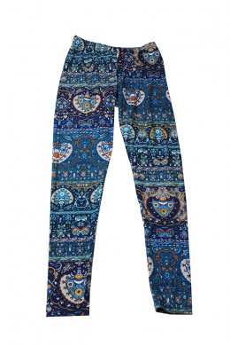 Ultra Flirt Juniors Calypso Blue Printed Leggings XS