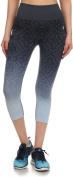 Junior's Activewear Seamless Ombre Jacquard Capri Leggings Pants