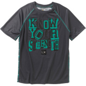 "Live Xtreme Boys ""KNOW YOUR STRENGTH"" Performance Closed Hole Mesh Short Sleeve Graphic Tee"