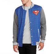 Superman Big Men's Varsity Fleece Jacket, 2XL