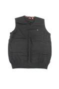 Izod Black Big And Tall Sleeveless V-Neck Sweater Lt