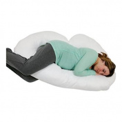 J Shaped Premium Contoured Body Pregnancy/Maternity Pillow Includes Zippered Cover