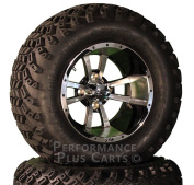 30cm Storm Trooper Black / Machined Golf Cart SS Wheels with 60cm Lifted Tyres