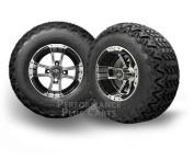 YAMAHA G14/G16/G19 15cm LIFT KIT+Apex 25cm Machined & Black Golf Cart Tyre Combo
