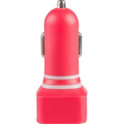 Vivitar 2.1 Amp Dual Usb Car Charger-red