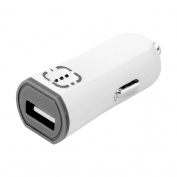 RUIZ by Cellet Universal 2.1A/10W USB Car Charger, White/Grey