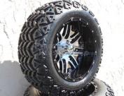 YAMAHA DRIVE 15cm LIFT KIT + Megastar 14X8 Golf Cart Wheel w/ 60cm A/T Lifted Tyre