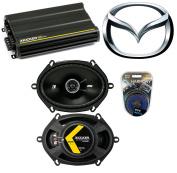 Fits Mazda Miata 1998-2014 Speaker Replacement Kicker DSC68 & CX300.4 Amplifier - Factory Certified Refurbished