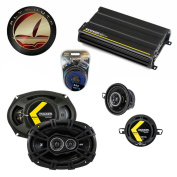 Fits Plymouth Gran Fury 1978-1983 Speaker Upgrade Kicker DS Series & CX300.4 Amp - Factory Certified Refurbished