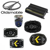 Fits Oldsmobile Alero 1999-2000 Speaker Upgrade Kicker DS Series & CX300.4 Amp - Factory Certified Refurbished