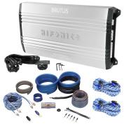 New Hifonics Brutus BRX5016.5 1200 Watt RMS 5-Channel Car Amplifier+Amp Kit