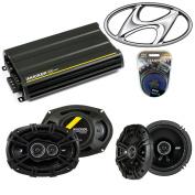 Fits for Hyundai Entourage 2007-2008 Speaker Upgrade Kicker DS Series & CX300.4 Amp - Factory Certified Refurbished
