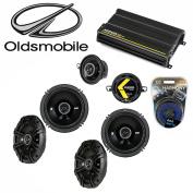 Fits Oldsmobile Achieva 1996-1998 Speaker Upgrade Kicker DS Series & CX300.4 Amp - Factory Certified Refurbished