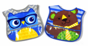 Parents Choice Boys Large Character Bibs, Pack of 2